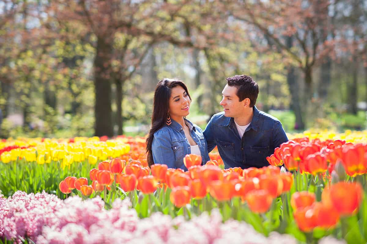 lovers fotoshoot tulpen