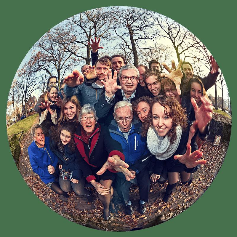groepsfoto familie Nieuw-Vennep fotostudio