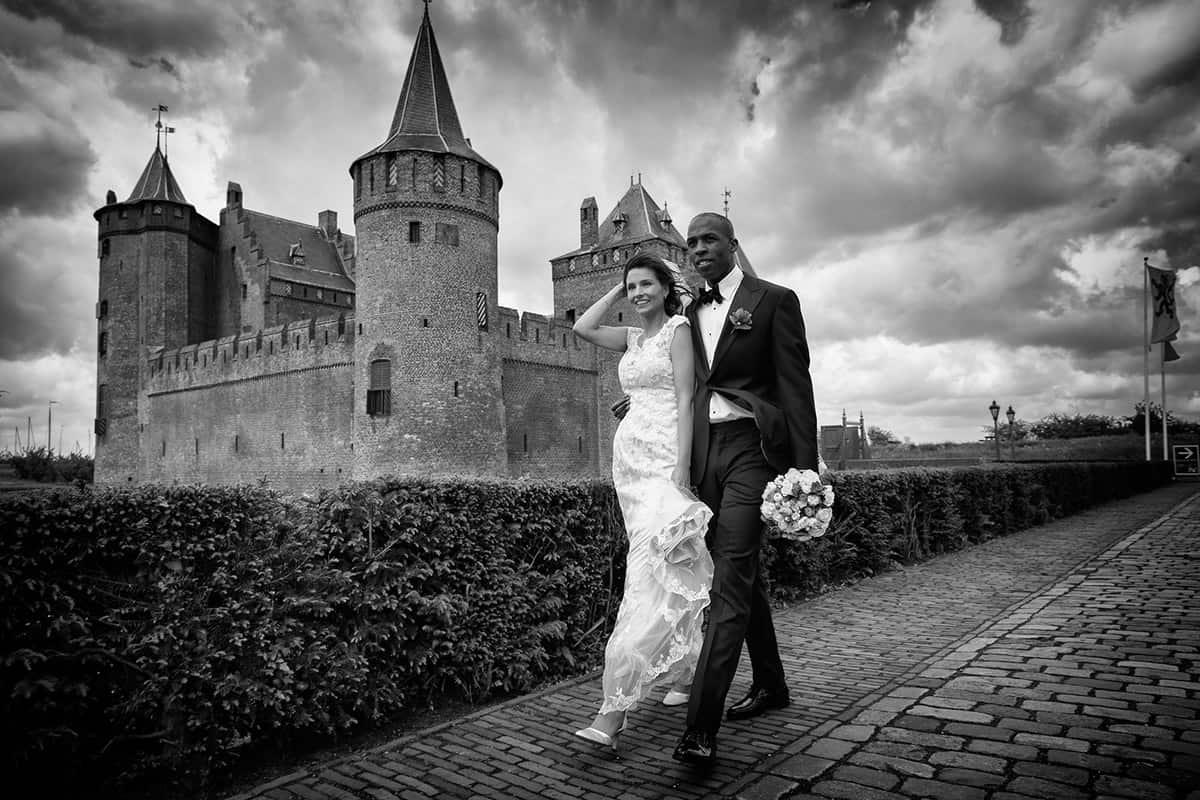 fotoshoot trouwreportage fotograaf bruidsfotografie bruidsreportage Muiderslot