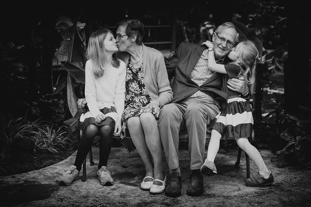 familiefoto kas Burgerveen