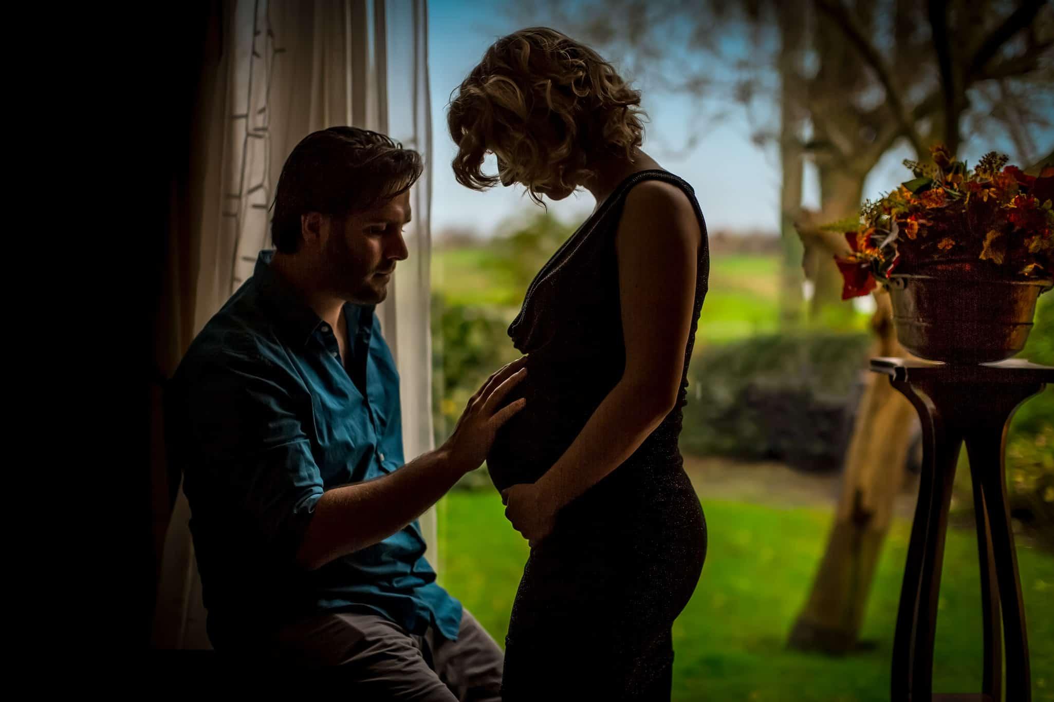 zwanger lifestyle foto thuis