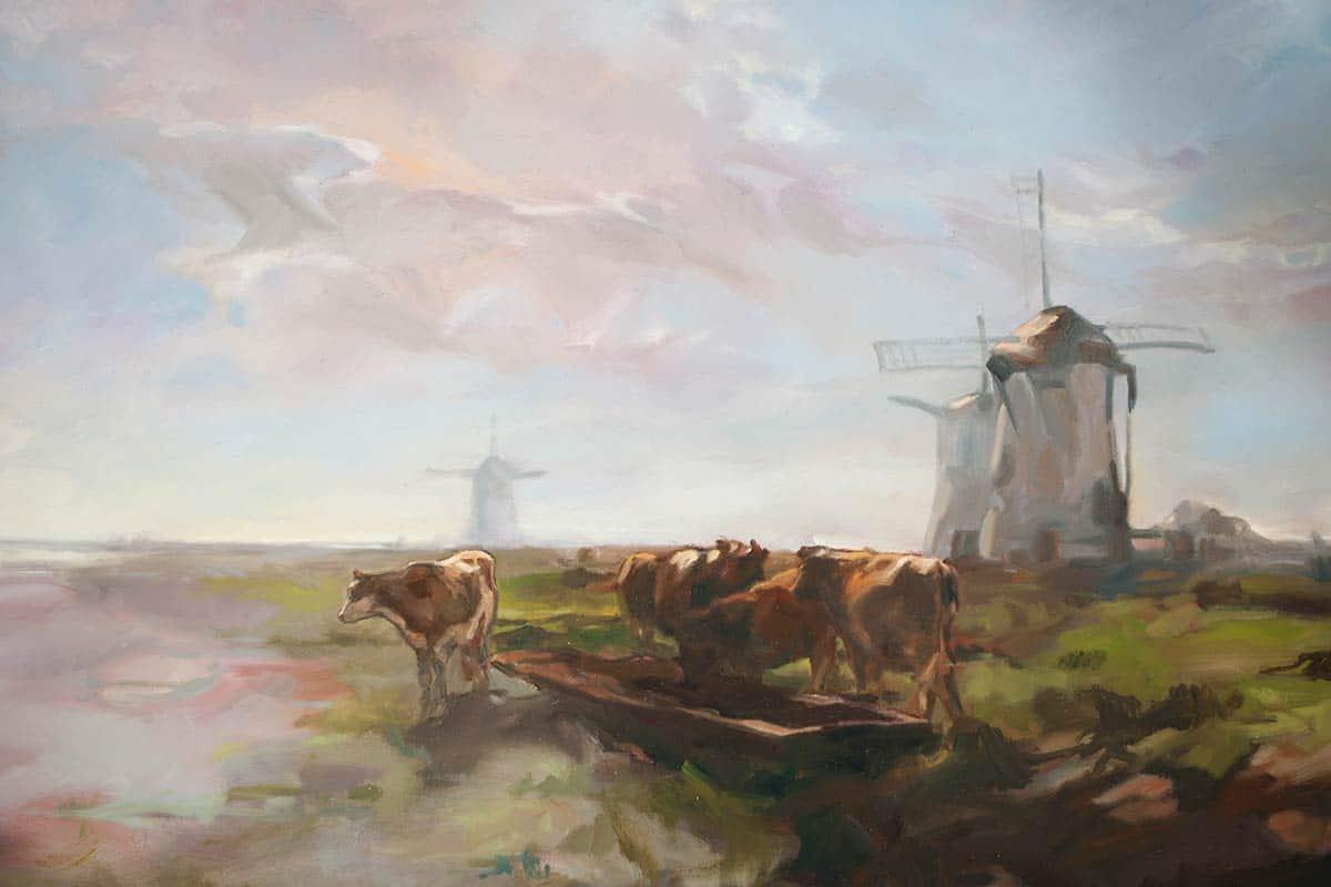 muurschilderij schildering kunst keukenhof 2013