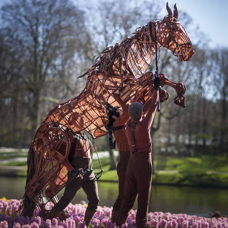 Foto Keukenhof 2014 paard kunst