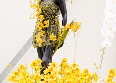 Kleding creaties tussen de orchideeën