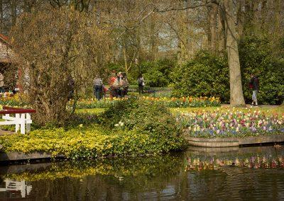 April spring Holland garden