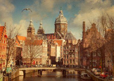 tourists photo Amsterdam
