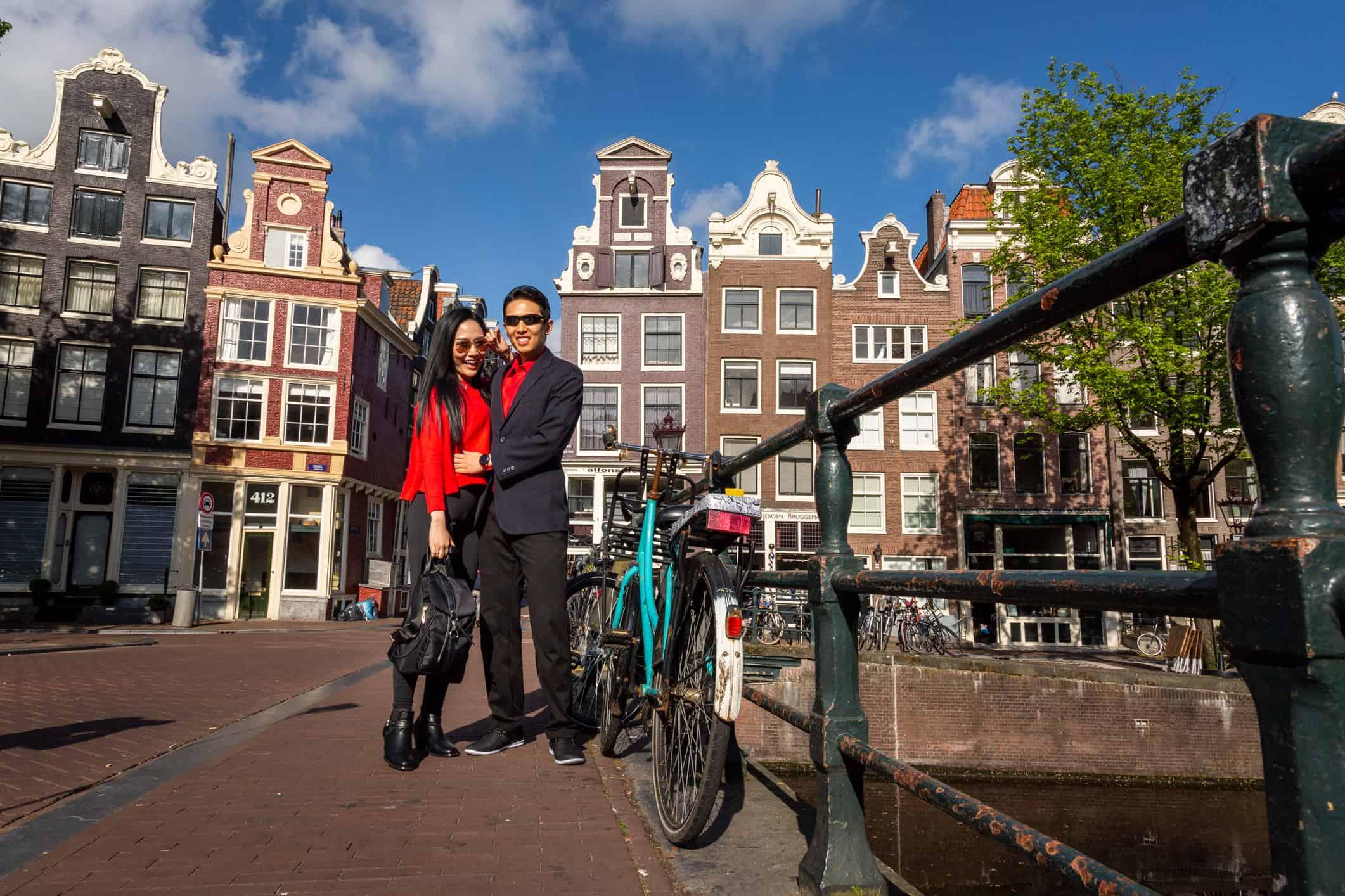honeymoon proposal photo session Amsterdam