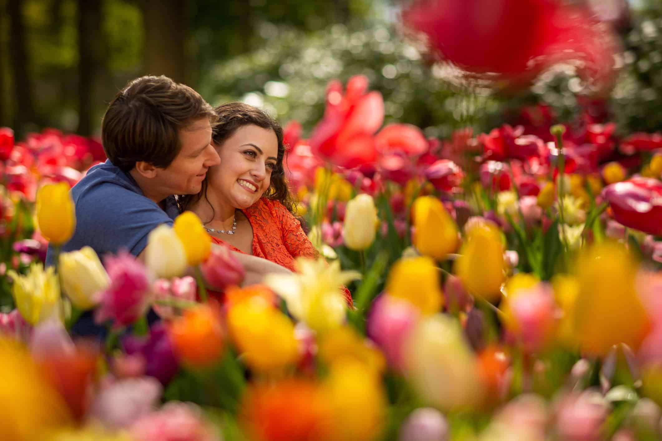 fotoshoot Keukenhof tulpen