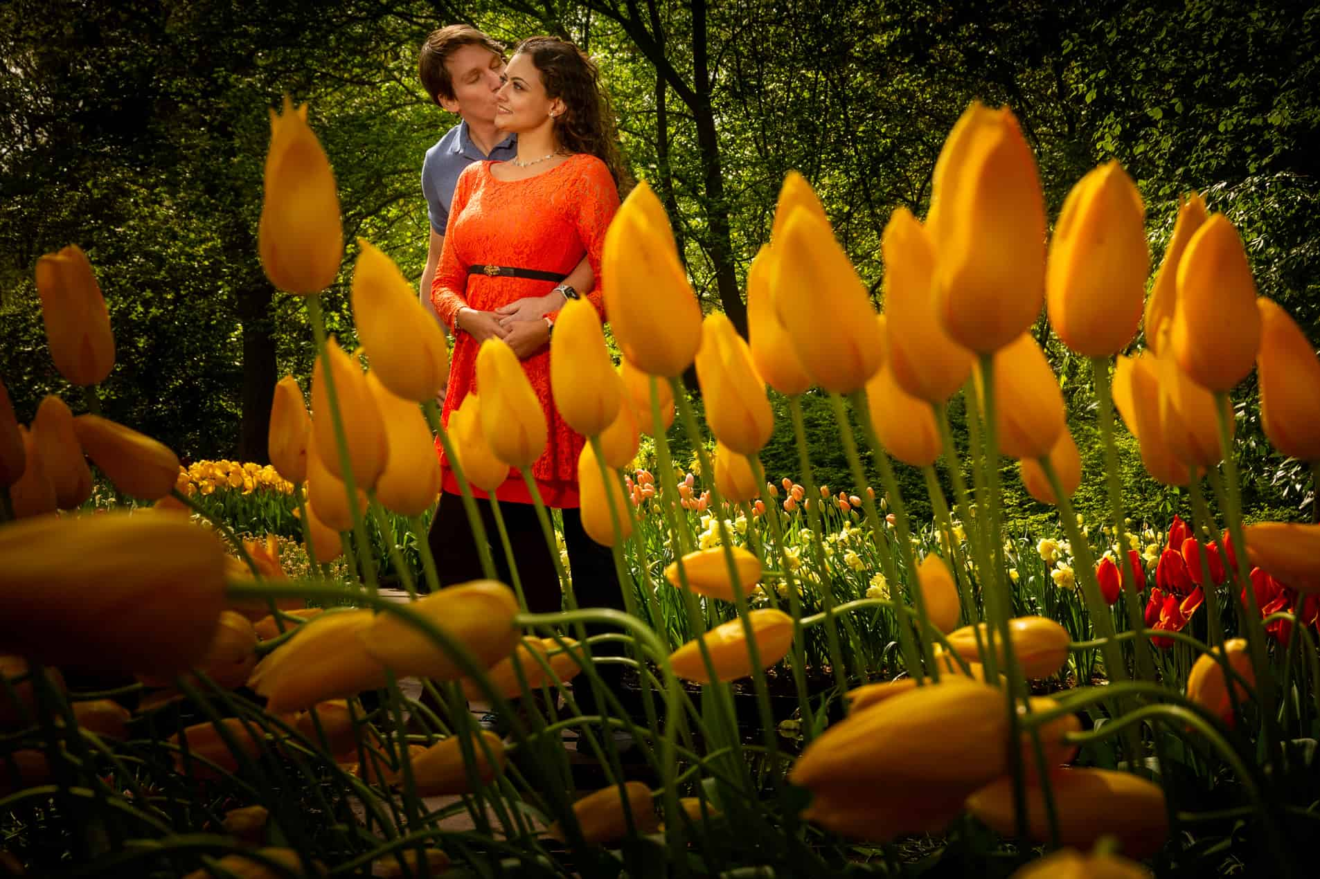 photo session casual tulips Holland