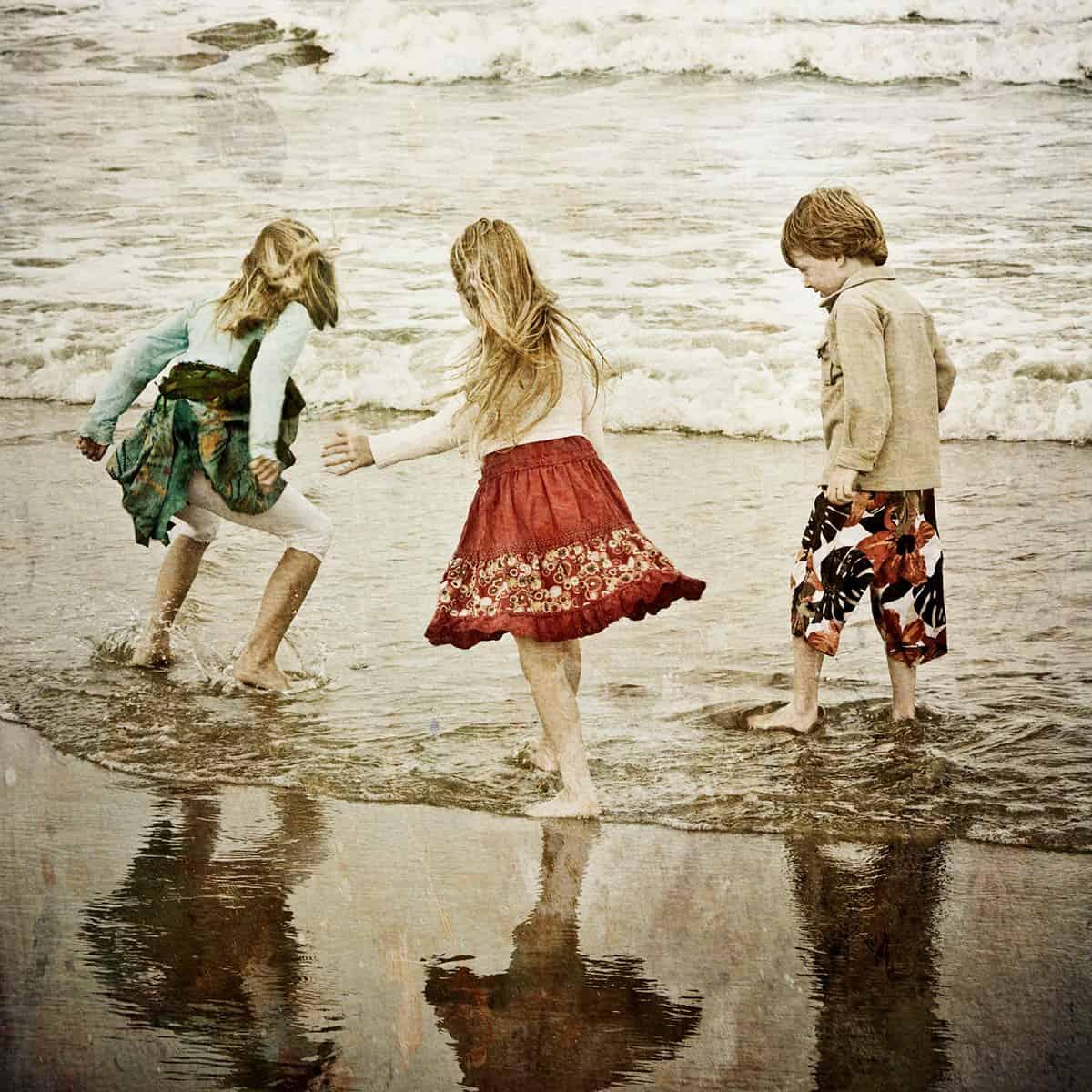 fotoshoot strand kinderen Noordwijk
