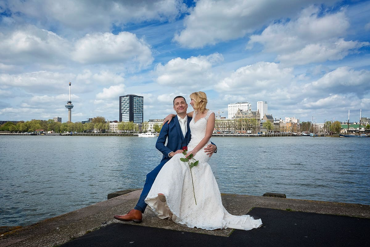 trouwfoto Euromast bruidsfotografie