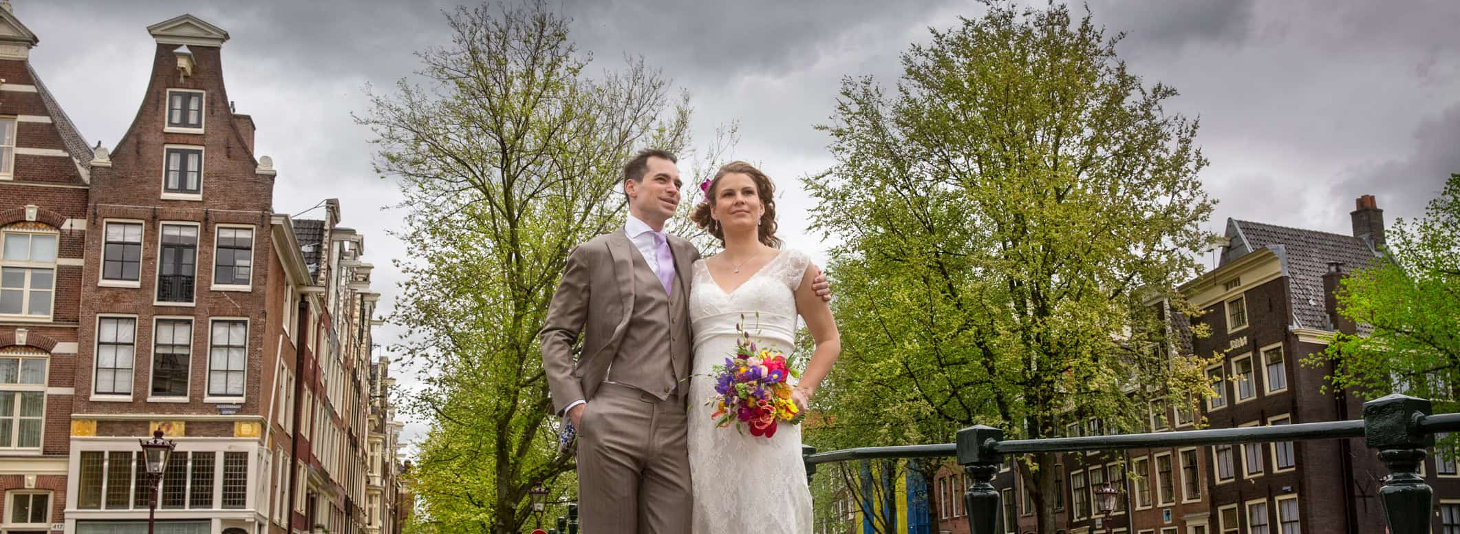 bruidsfotografie Amsterdam grachten