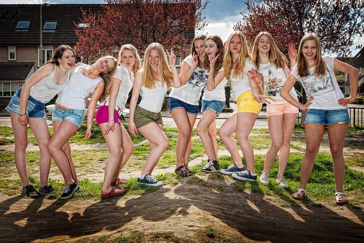 fotoshoot vriendinnen tieners modellenfeest vrijgezellenparty Zaandam Zaanstad