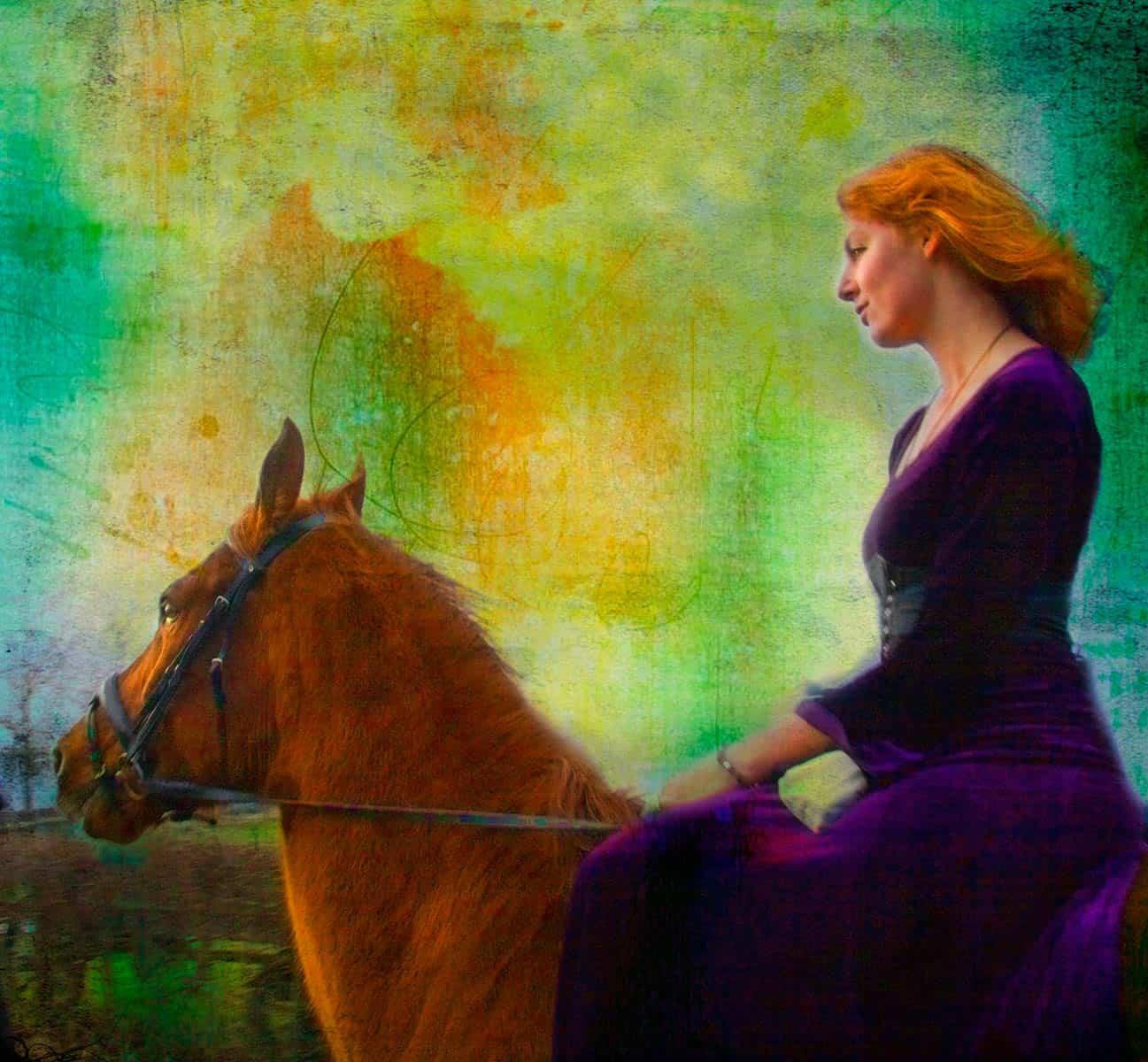 fotoshoot model meisje portret fantasy gothic glamour fotograaf paard fantasyfoto paardenfoto