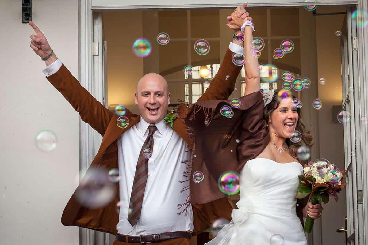 Bedwelming Fotograaf bruiloft trouwen huwelijk | mooie trouwfoto's @KV45
