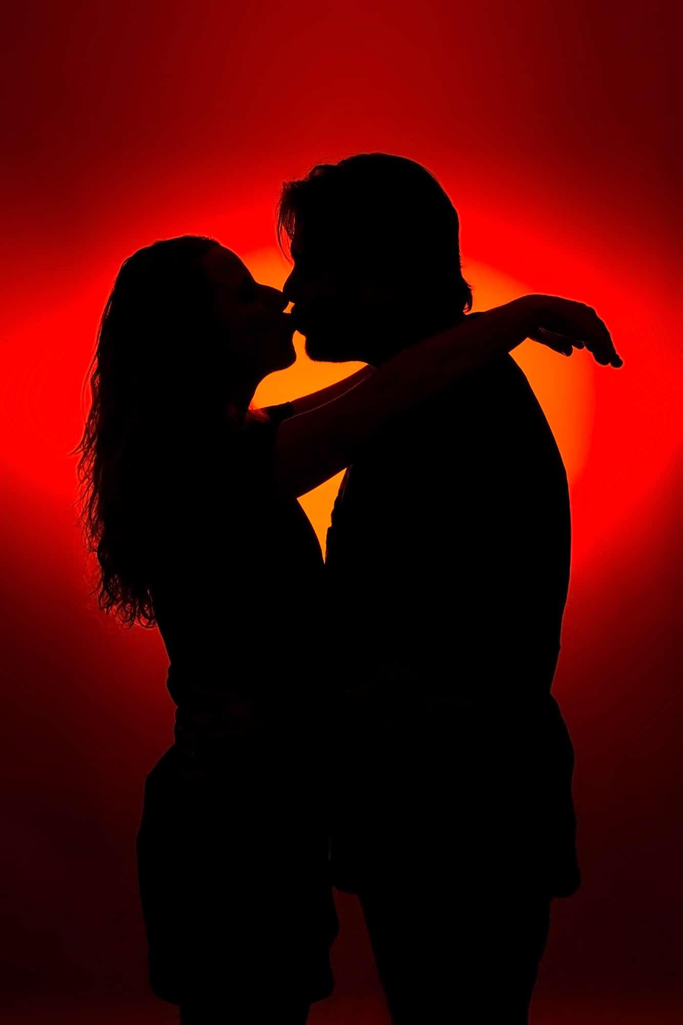 silhouet loveshoot fotoshoot