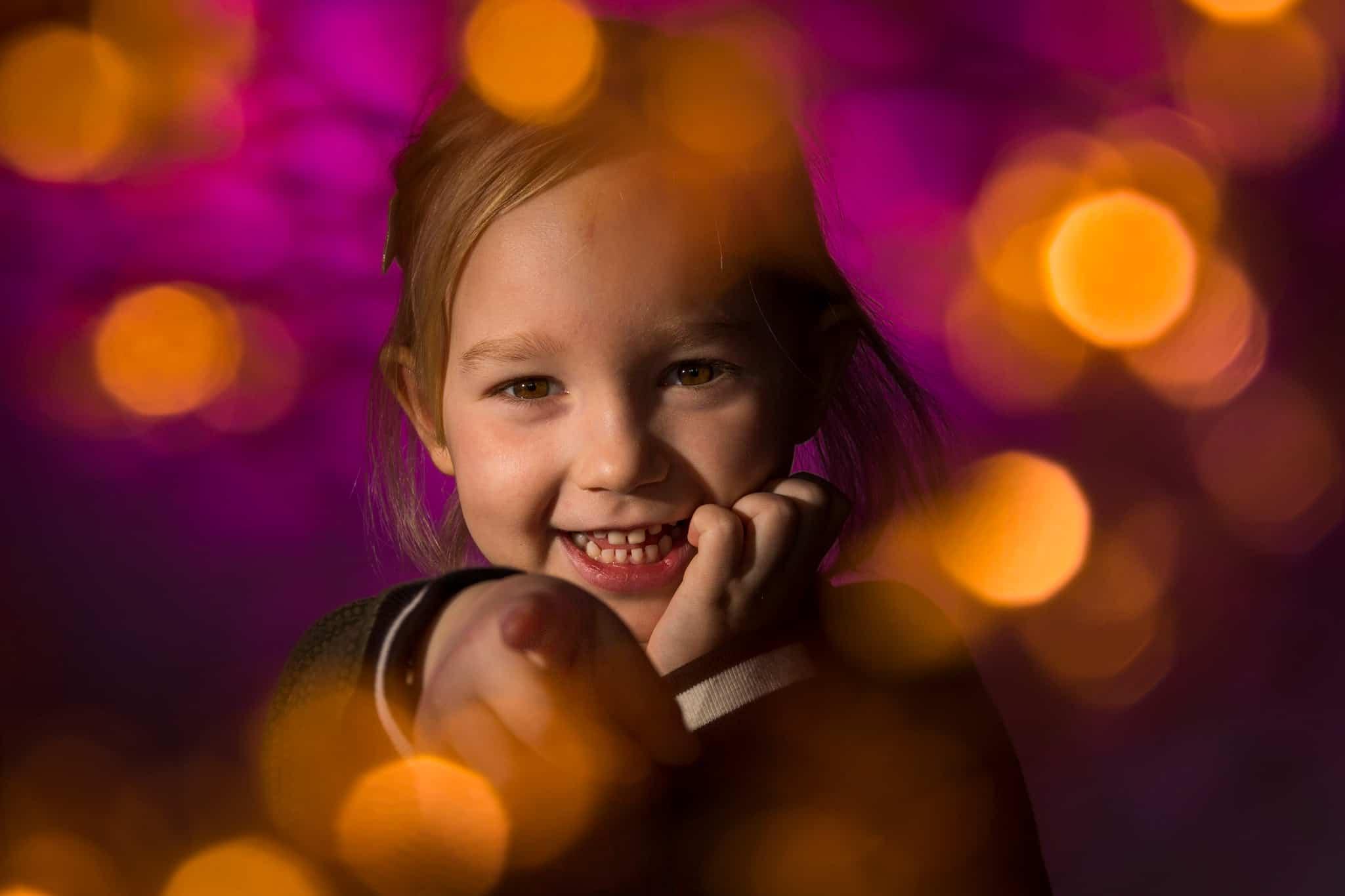 fotoshoot lichteffect meisje