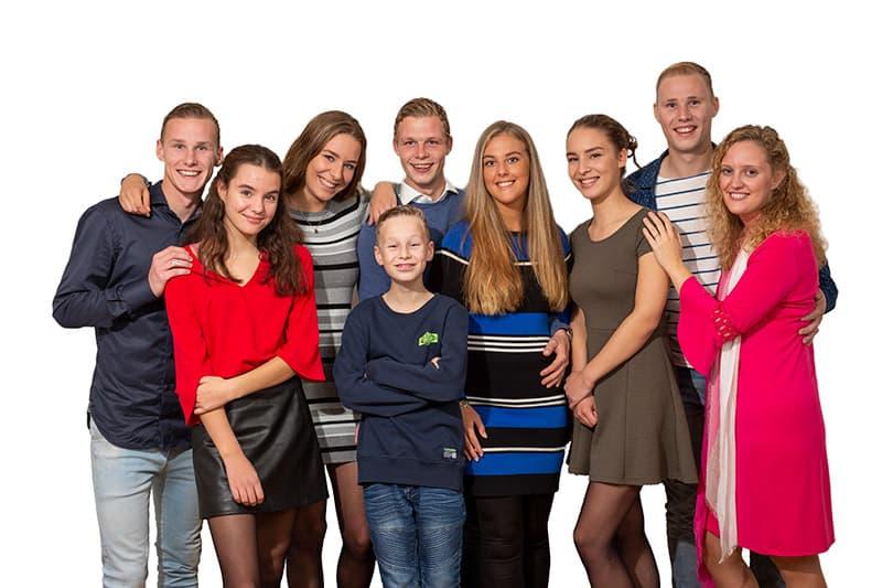 familiefoto thuis woonkamer Nieuw-Vennep Hoofddorp